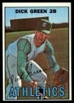 1967 Topps #54  Dick Green  Front Thumbnail