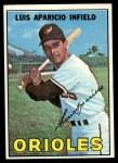 1967 Topps #60  Luis Aparicio  Front Thumbnail