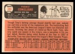 1966 Topps #380  Tony Conigliaro  Back Thumbnail