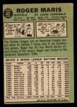 1967 Topps #45 ^STL^ Roger Maris  Back Thumbnail