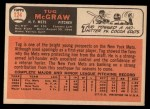 1966 Topps #124  Tug McGraw  Back Thumbnail