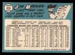 1965 Topps #416  Jim Brewer  Back Thumbnail