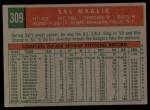 1959 Topps #309  Sal Maglie  Back Thumbnail