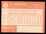1964 Topps #352  Eddie Bressoud  Back Thumbnail