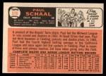1966 Topps #376  Paul Schaal  Back Thumbnail