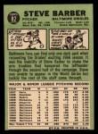 1967 Topps #82  Steve Barber  Back Thumbnail