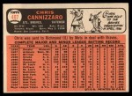 1966 Topps #497  Chris Cannizzaro  Back Thumbnail
