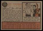 1962 Topps #154 A Lee Thomas  Back Thumbnail