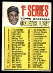 1967 Topps #62 R  -  Frank Robinson Checklist 1 Front Thumbnail