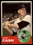 1963 Topps #445 TCH Norm Cash  Front Thumbnail