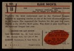 1953 Bowman #18  Elbert Nickel  Back Thumbnail