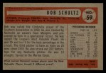 1954 Bowman #59  Robert Schultz  Back Thumbnail