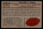 1953 Bowman #29  Billy Stone  Back Thumbnail