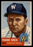 1953 Topps #164  Frank Shea  Front Thumbnail
