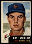 1953 Topps #151  Hoyt Wilhelm  Front Thumbnail