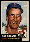 1953 Topps #98  Cal Abrams  Front Thumbnail
