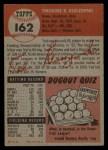 1953 Topps #162  Ted Kluszewski  Back Thumbnail