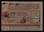 1958 Topps #229  Frank Zupo  Back Thumbnail