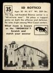 1951 Topps #35  Ed Rotticci  Back Thumbnail