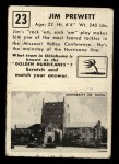 1951 Topps #23  Jim Prewett  Back Thumbnail
