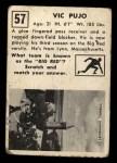 1951 Topps Magic #57  Vic Pujo  Back Thumbnail