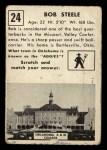 1951 Topps #24  Bob Steele  Back Thumbnail