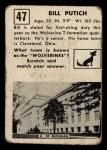 1951 Topps Magic #47  Bill Putich  Back Thumbnail