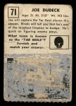 1951 Topps #71  Joe Dudeck  Back Thumbnail