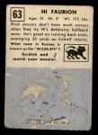 1951 Topps Magic #63  Hi Faubion  Back Thumbnail