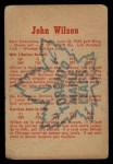 1960 Parkhurst #14  Johnny Wilson  Back Thumbnail