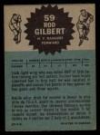 1962 Topps #59  Rod Gilbert  Back Thumbnail