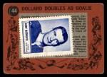 1961 Topps #44   -  St.Laurent / G.Hall In Action Back Thumbnail