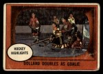 1961 Topps #44   -  St.Laurent / G.Hall In Action Front Thumbnail