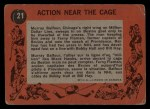 1961 Topps #21   -  Murray Balfour / Fern Flaman Action Near the Cage Back Thumbnail