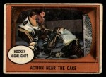 1961 Topps #21   -  Murray Balfour / Fern Flaman Action Near the Cage Front Thumbnail