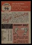 1953 Topps #96  Virgil Trucks  Back Thumbnail
