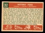 1959 Topps #262   -  Clem Labine / Johnny Podres / Don Drysdale Hitters' Foes Back Thumbnail