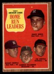1962 Topps #53   -  Roger Maris / Mickey Mantle / Jim Gentile / Harmon Killebrew AL HR Leaders Front Thumbnail