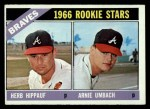 1966 Topps #518   -  Herb Hippauf / Arnie Umbach Braves Rookies Front Thumbnail