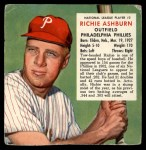 1953 Red Man #3 NL x Richie Ashburn  Front Thumbnail
