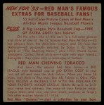 1953 Red Man #3 NL x Richie Ashburn  Back Thumbnail