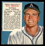 1953 Red Man #13 AL x Gus Zernial  Front Thumbnail