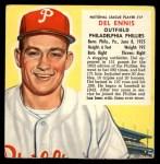 1953 Red Man #17 NL x Del Ennis  Front Thumbnail
