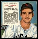 1953 Red Man #16 AL x Billy Pierce  Front Thumbnail