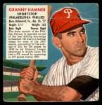 1952 Red Man #7 NL x Granny Hamner  Front Thumbnail