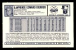 1973 Kelloggs 2D #53  Larry Dierker  Back Thumbnail