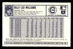 1973 Kelloggs #10  Billy Williams  Back Thumbnail