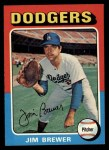 1975 Topps #163  Jim Brewer  Front Thumbnail