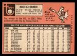 1969 Topps #517  Mike McCormick  Back Thumbnail