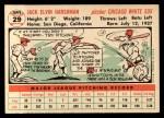 1956 Topps #29  Jack Harshman  Back Thumbnail